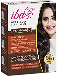 Iba Halal Care Hair Color, Dark Brown, 70g + Free Sachet