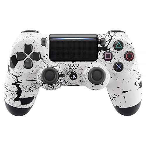 eXtremeRate PS4 Schutzhülle Case Obere Hülle Cover Oberschale Gehäuse Skin Schale für Playstation 4 PS4 Slim PS4 Pro Controller JDM-040 JDM-050 JDM-055(Weiß) (Ps4-gehäuse)