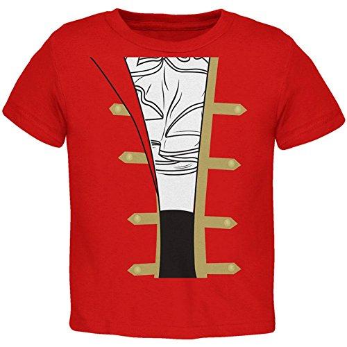 Halloween-Spanisch Pirat Kostüm Männer Kleinkind T Shirt rot 2 (Piraten Kostüme 2t)