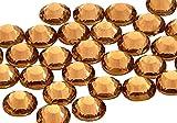 EIMASS 7767 Pack of 1440 Gems, Light Colorado Topaz Gold ss6 (2mm) DMC Hot Fix Flat Back Rhinestones, Glass Diamantes, Flat back Crystals