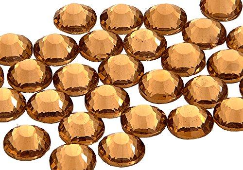 EIMASS® ELEMENTS Hotfix Glaskristalle mit flacher Rückseite, 1440 Stück, Light Colorado Topaz, 4,8 mm
