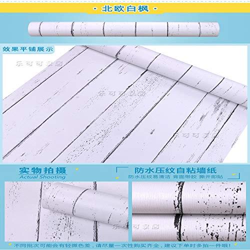 lsaiyy PVC Selbstklebende tapete schlafsaal Schlafzimmer Wohnzimmer tapete kinderzimmer Wand Retro Ziegel Holz Wand tapete-45 cm X 10 Mt
