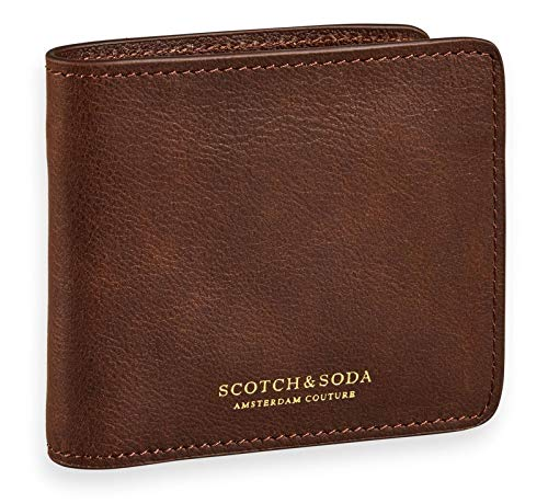 Classic Leather Classic Wallet (Scotch & Soda Classic Leather Billfold Wallet Brown)