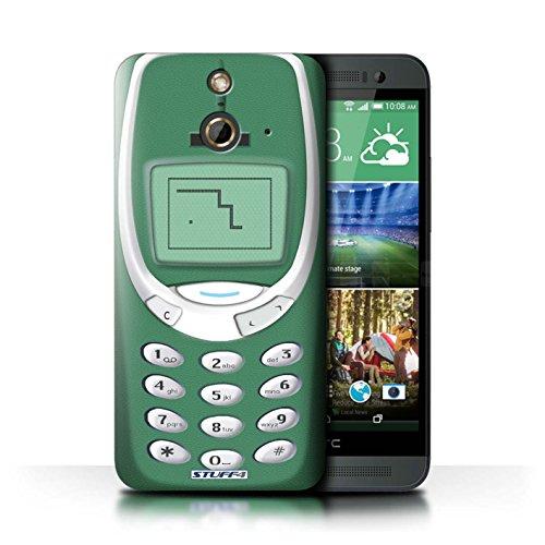 Kobalt® Imprimé Etui / Coque pour HTC One/1 E8 / Nokia 3310 blanc conception / Série Portables rétro Nokia 3310 vert