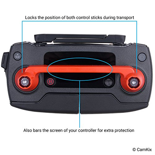 CamKix Propeller and remote control locking kit Compatible with DJI Mavic Pro / Platinum - RC protector Locks the position of both joysticks - Prop locks Keep the blades in fixed position