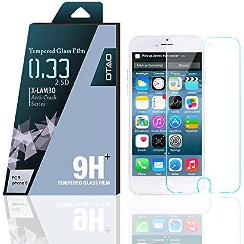 OTAO Apple Iphone 6 curvado del borde 2.5D Premium claro 0,3 ml X Lambo más alto nivel de protección 9H