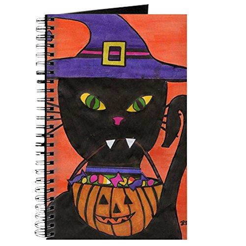 CafePress - Halloween-Katze - Spiralgebundenes Tagebuch, persönliches Tagebuch, Punkt-Raster