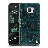 Head Case Designs Nero Circuiti Cover Retro Rigida per HTC U Ultra / Ocean Note