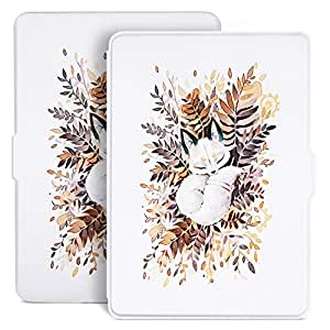 Ayotu Colorful Case for Kindle Paperwhite E-reader Auto Wake/Sleep Smart Protective Cover,Fits All 2012, 2013, 2015 and 2016 Versions Kindle Paperwhite 300 PPI,K5-09 White Shell The Sleeping Fox