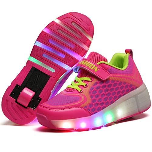 Charmstep Unisex Niños LED Parpadea Zapatos Ruedas