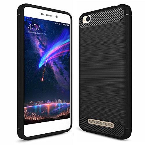 FayTun Hülle für Xiaomi Redmi 4A, Xiaomi Redmi 4A Handyhülle Soft Schutzhülle, Schutz vor Fingerabdruck,Staub und Scratch-Stoßfest FeinMatt TPU Case für Xiaomi Redmi 4A, Schwarz