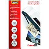 Fellowes Capture - Bolsas de plastificar (83 x 113 mm, 125 micras, 100 unidades)
