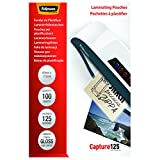 Fellowes 53071 Laminierfolien Capture 125 Mikron, 83 x 113 mm (100er Pack)