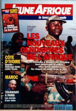 JEUNE AFRIQUE [No 1969] du 06/10/1998 - LES NOUVEAUX GENDARMES