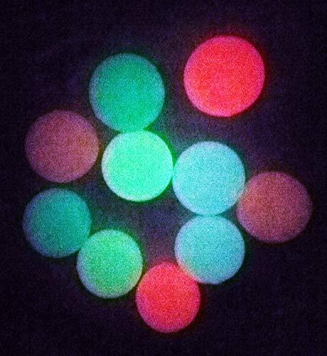 Partynelly 10x Glow in The Dark Flummi | Mitgebsel Kindergeburtstag | 3,30 cm | nachtleuchtend