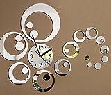 SUNQIAN-Decorative wall sticker clock,Silver