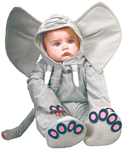 Fancy Me Baby Mädchen Jungen grau Elefant Zoo Tier Halloween Kostüm Kleid Outfit - grau, 6-12 - Elefanten Baby Kostüm