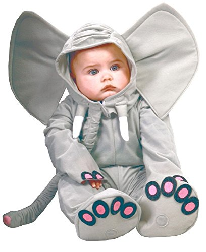 Fancy Me Baby Mädchen Jungen grau Elefant Zoo Tier Halloween Kostüm Kleid Outfit - grau, 6-12 - Baby Mädchen Elefanten Kostüm