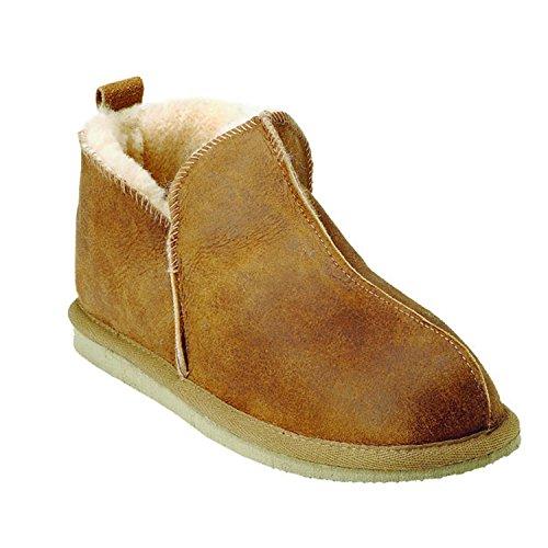 Shepherd Pantofole Pelle Di Pecora Babuccia Antico Cognac Annie Antico Cognac