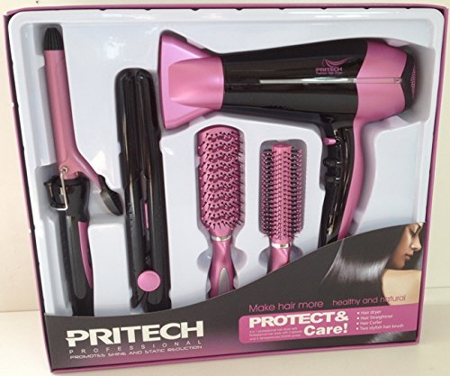 Pritech - Set de coiffure 5 en 1...