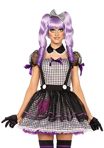 Leg Avenue 85370 - Dead Eye Dolly Damen kostüm, Größe Small (EUR 36), Karneval Fasching