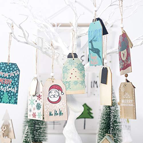 Ciondoli Decorazioni Natalizie Babbo Natale Decorazione di Regalo Ornamenti per Albero di Natale Decorazione Dell'Albero di Natale Abbellimenti di Legno Scheda Clip Ornamenti da A