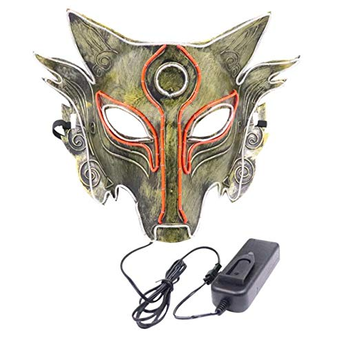 LPP Halloween-Maske, Werwolf tötet Wolf Kopf Anti-Betrug Vollgesichtsglut, Schuld Spiel Kaltlicht Dekoration Cool Cheek Veil (Halloween-tanz-spiele Erwachsene Für)