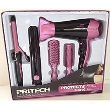 Pritech Juego peinado 5 en 1 secador. Plancha de pelo. Rizador de pelo.