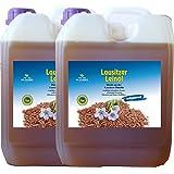 Leinöl 10 Liter (2 x 5 Liter) Lausitzer kaltgepresst ohne Konservierungsstoffe kostenlose Lieferung