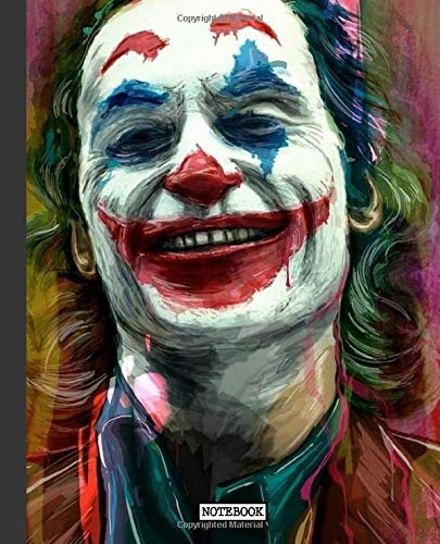 Notebook: Joker Smilling Face Comics Art Cartoon Funny Batman Cute Writing Taking Notes, Workbook for Teens & Children Daily Creative Writing College Ruled Pages Book 7.5 x 9.25 Inches 110 Pages