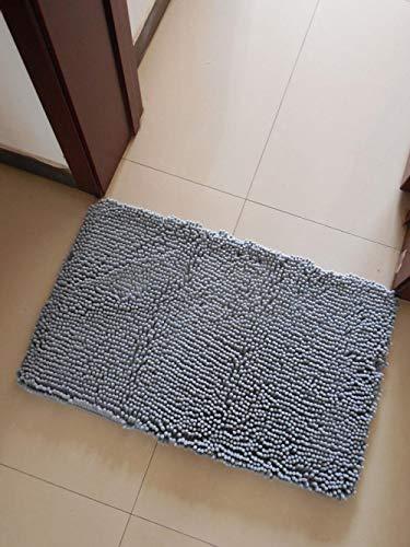 Alfombrilla de baño Alfombrilla de baño IKEA Alfombrilla de baño de Microfibra Espesor Absorbente de Agua Alfombra de Ducha Shaggy...