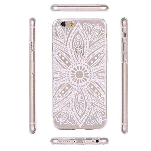 ECENCE APPLE IPHONE 6 6S (4,7) COQUE DE PROTECTION HOUSSE CASE COVER 41020404 Mandala blanc