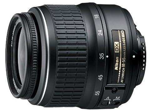 Nikon AF-S DX Zoom-Nikkor 18-55mm 1:3,5-5,6G ED II Objektiv (52 mm Filtergewinde) schwarz (Nikon D2xs)