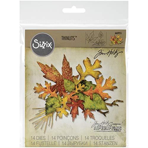 Sizzix 660955Thinlits sterben Set, Fall Foliage von Tim Holtz, 14/Pack -