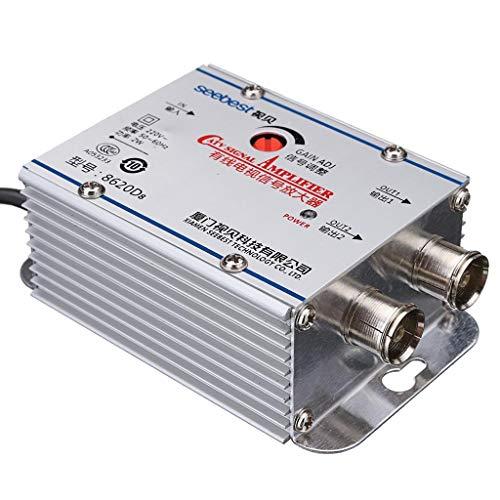 Unbekannt calefacción HJB 2 Wege CATV Kabel TV Verstärker Signal AMP Antenne Booster Splitter Set Band 100% New Tv-splitter-booster