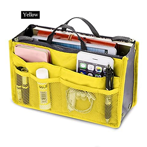Sac cosmétique - All4you femmes stockage sac voyage multifonction cosmétiques maquillage Insert Pouch(Yellow)