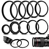 Fotover 10 teiliges Metall Step-Up Adapter Ringe Kit Objektiv Filter Schritt Adapter Ringe Set for Canon Nikon Sony Pentax Olympus Fuji DSLR Kamera