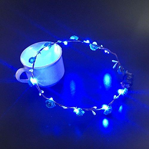 Cido LED-Kranz Blumen-Stirnband Zubehör Krone Blumengirlande Hochzeit Braut
