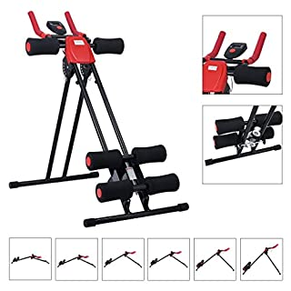Finether Foldable Abdominal Trainer AB Cruncher Glider Machine 5 Minute Shaper with 6 Levels of intensity