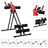 Finether Foldable Abdominal Trainer AB Cruncher Glider Machine 5 Minute Shaper with 6