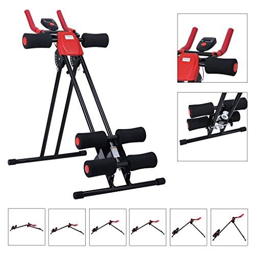 Finether-Banco Abdominal, Fitness (Ejercicos de Cuerpo, Aparato de Musculación,Mayor Seguridad, Capacidad: 120kg) Negro