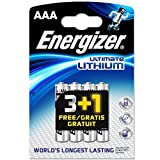 Energizer Ultimate Lithium Battery: 8pcs Energizer L92 AAA Batteries (Twin Packs of 3+1 Free)
