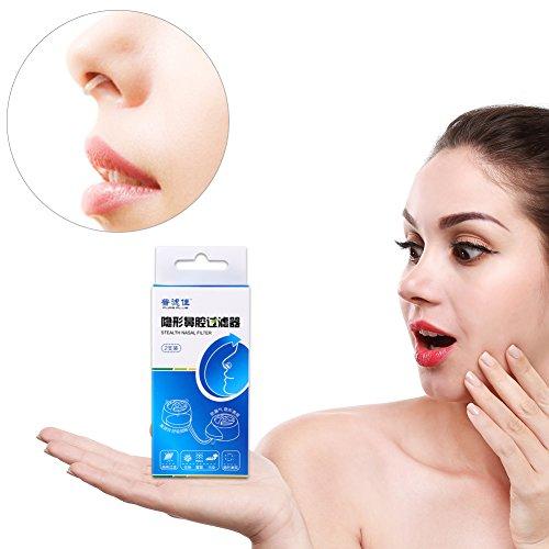 Nuevos filtros nasales invisibles Súper defensa Contaminación del aire Nariz Polen Allergy Alivio Máscara de polvo(+ 17 filtros de repuesto)