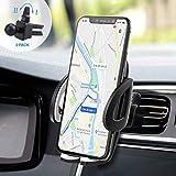 IZUKU Supporto Auto Smartphone [Versione Migliorata] Porta Cellulare Auto per telefoni iPhoneX/8/7/6, Samsung S9/8/7,Xiaomi,Huawei Honor e GPS Dispositivi Larghezza di 5,3cm-9,5cm