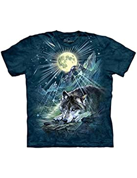 The Mountain Unisex Kinder Wolf Night Symphony Tier T Shirt