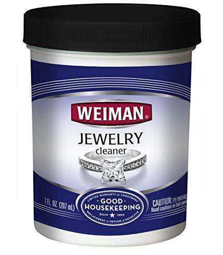 Weiman Schmuck-Reinigungsflüssigkeit,stellt Glanz und Brillanz zu Gold, Diamanten, Platinschmuck und Edelsteinen wieder her, 200 ml -