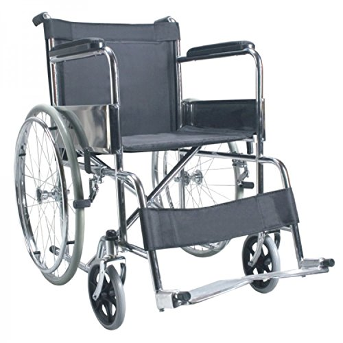 Active For All Folding Wheel Chair Crome Plated  available at amazon for Rs.4790