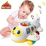 ACTRINIC Baby elektronisches Flugzeug Licht und Musik pädagogisches Spielzeug für Kinder für Kleinkinder Jungen und Mädchen 1 2 3 4 5 Jahre alt