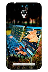 Blue Throat Tree Leaves On Bench Hard Plastic Printed Back Cover/Case For Asus Zenfone Go