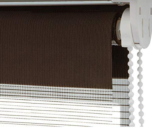 Tenda a rullo oscurante doppia funzione casa pura | giorno/notte | semitrasparente | diversi colori e misure | marrone, 120x150